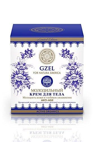 Body Cream Anti Age Gzel Tsar's Berries w/ Apple, Honey, and Rosehip, 12.5 oz/ 370 Ml (Natura Siberica)
