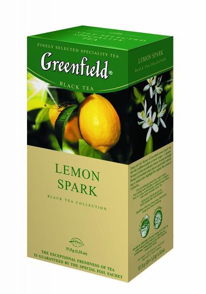 Greenfield Lemon Spark Black Tea, 25 tea bags