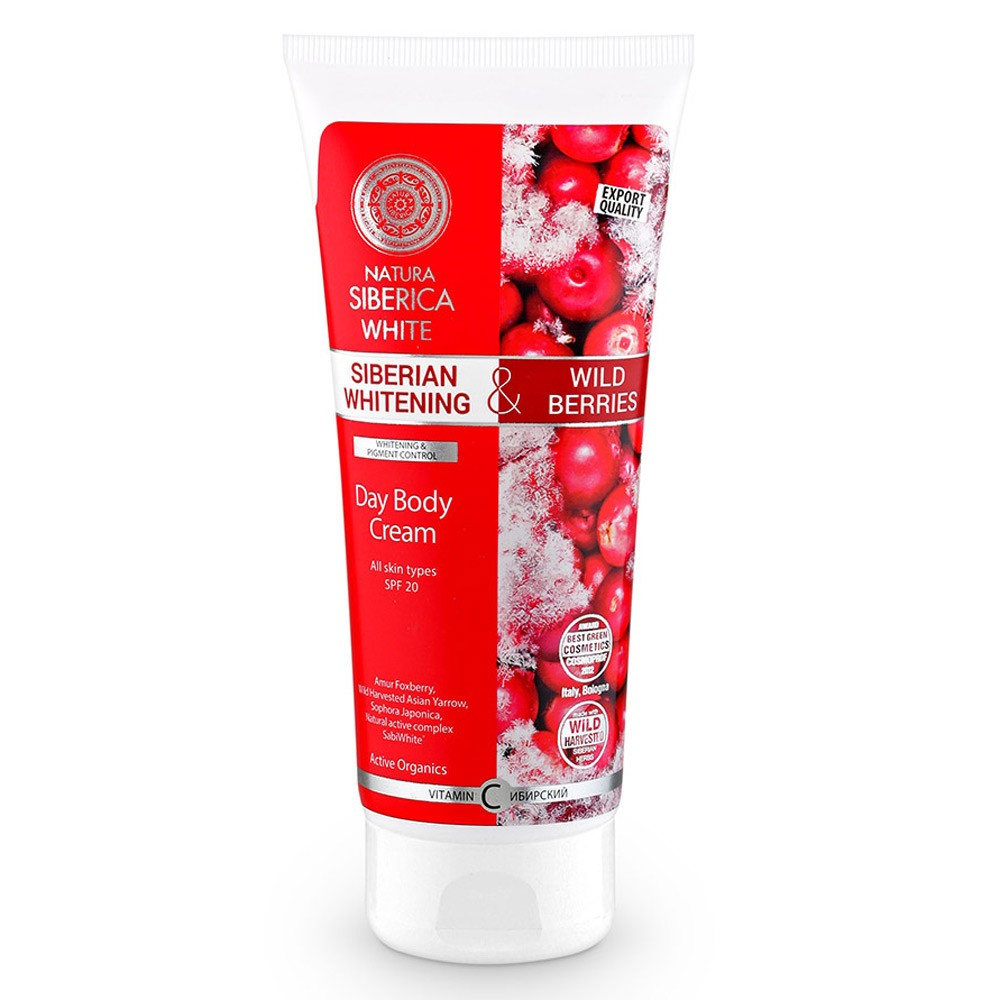 Siberian Whitening Day Body Cream, 6.76 oz/ 200 ml (Natura Siberica)