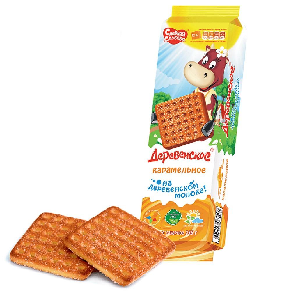 """Derevenskoe"" Cookies w/ Caramel, 8.64 oz/ 245 g"