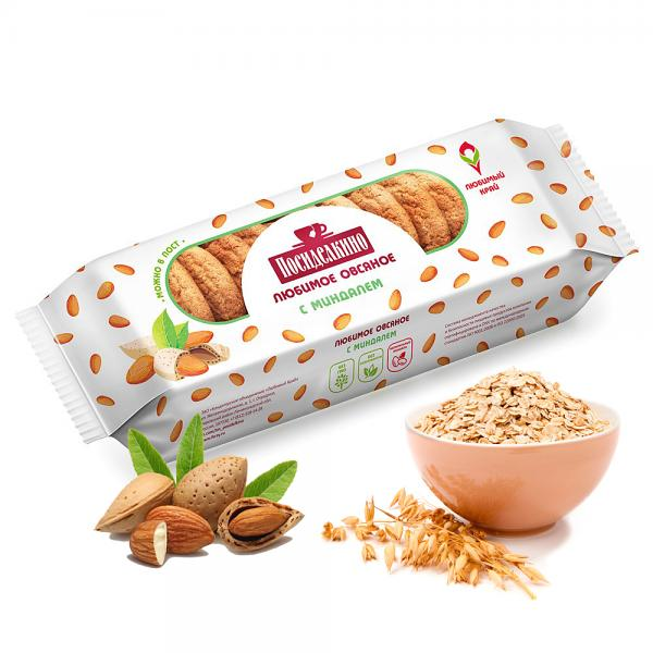 Posidelkino Oatmeal Cookies w/ Almond, 10.93 oz / 310 g