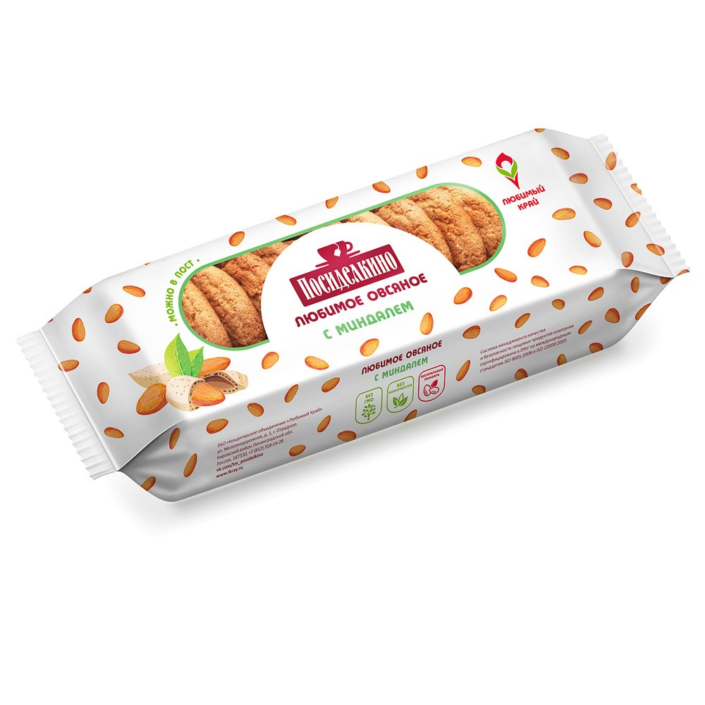 """Posidelkino"" Oatmeal Cookies w/ Almond, 10.93 oz/ 310 g"