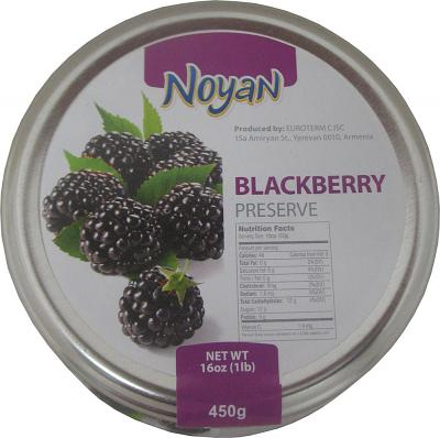 Natural Organic Noyan Armenian Blackberry Preserve, 1 lb/ 0.45 kg
