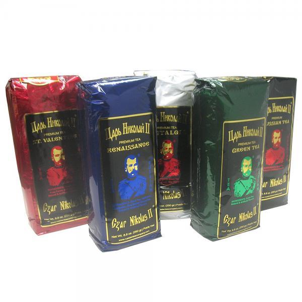 Tea Set Czar Nicholas II, 5 Flavors