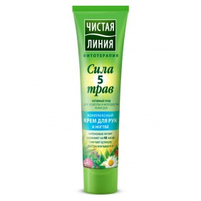 Complex Cream for Hands and Nails with Power of 5 Herbs, 1.35 oz/ 40 Ml