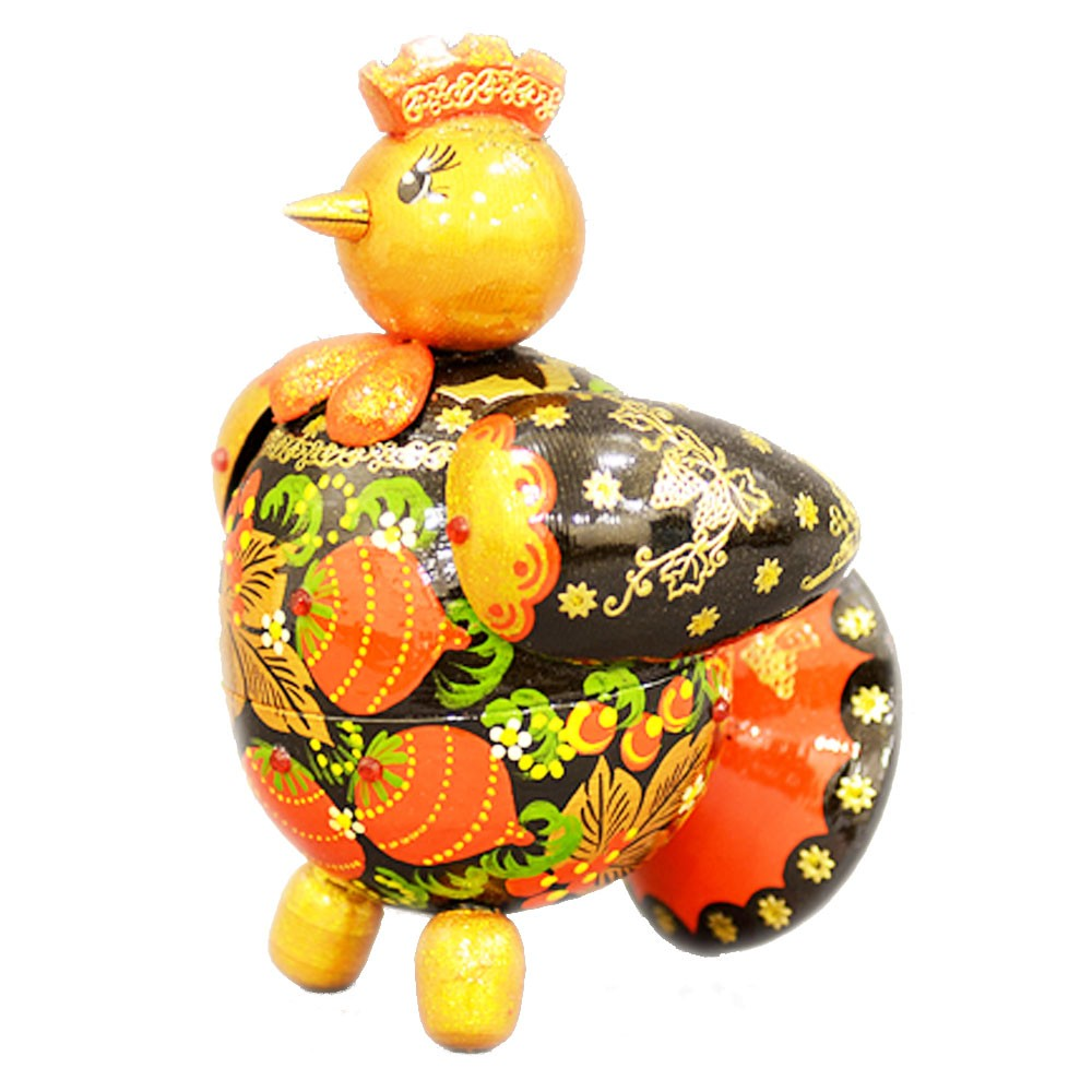 "Handmade Wooden Figurine ""Rooster"", Symbol of Year 2017 w/ Natural Flower Honey, 150 g/ 5.29 oz"