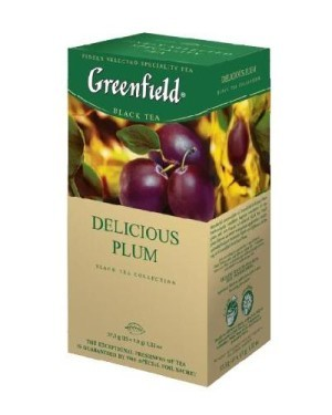 Greenfield Tea Delicious Plum, 20 Tea Bags