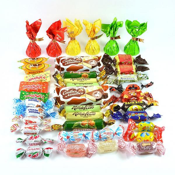 "Assorted Chocolate, Caramel and Jelly Candies ""Roshen"", 1 lb / 0.45 kg"