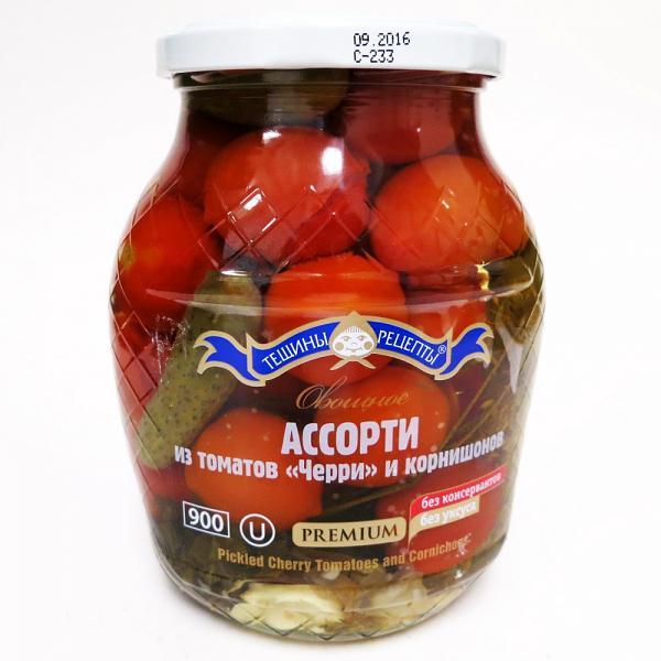 Pickled Cherry Tomatoes & Cornichons, 14.81 oz/ 420 g
