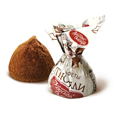 Chocolate Truffle Candy Red, 0.5 lb / 0.22 kg