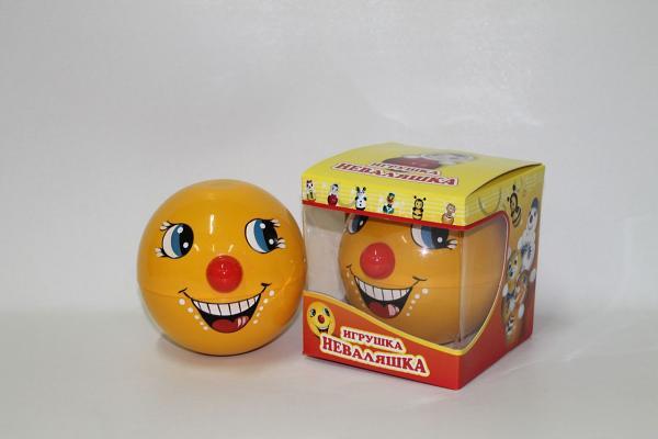 """Roly-Poly Toy, """"NEVALYASHKA"""" Kolobok, 4.7""""x4.7""""x4.7"""" (005)"""