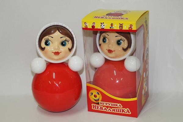 "Roly-Poly Toy Nevalyashka Little Girl, 5.7""x 5.7""x 10.6"" (007)"