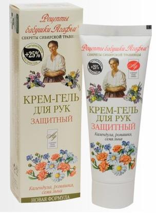 Protective Hand Cream Gel with Calendula, Camomile, and Flax Seed, 2.53 oz/ 75 Ml