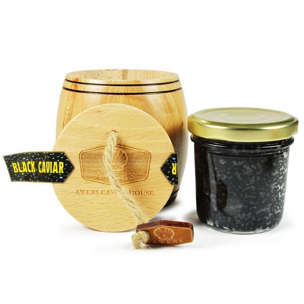 Wooden Barrel Bowfin Black Caviar, 3.5 oz / 100 g