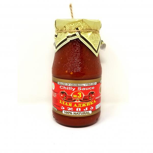 Spicy Chilly Adjika Sauce #3 (Zolotoe Runo), 18 oz / 550 g
