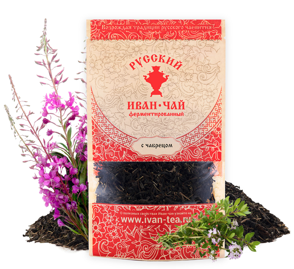 Ivan-Tea Fireweed Black Fermented Small-Leaf w/ Thyme, Doypack Zip Lock, 50 g/ 0.11 lb