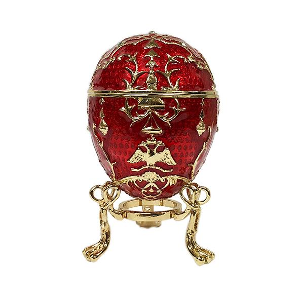 "Easter Gift Ideas Egg Trinket Box Tsarevich RED, 3.1"" / 8 cm (WS-JB80640K1)"
