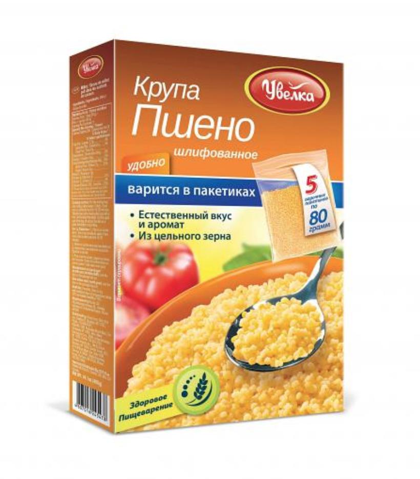 Uvelka Millet Groats 5x80 Boil-in-Bags, 14.10 oz/ 400 g