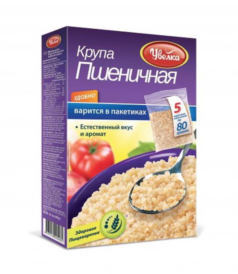 Uvelka Wheat Groats 5x80 Boil-in-Bags