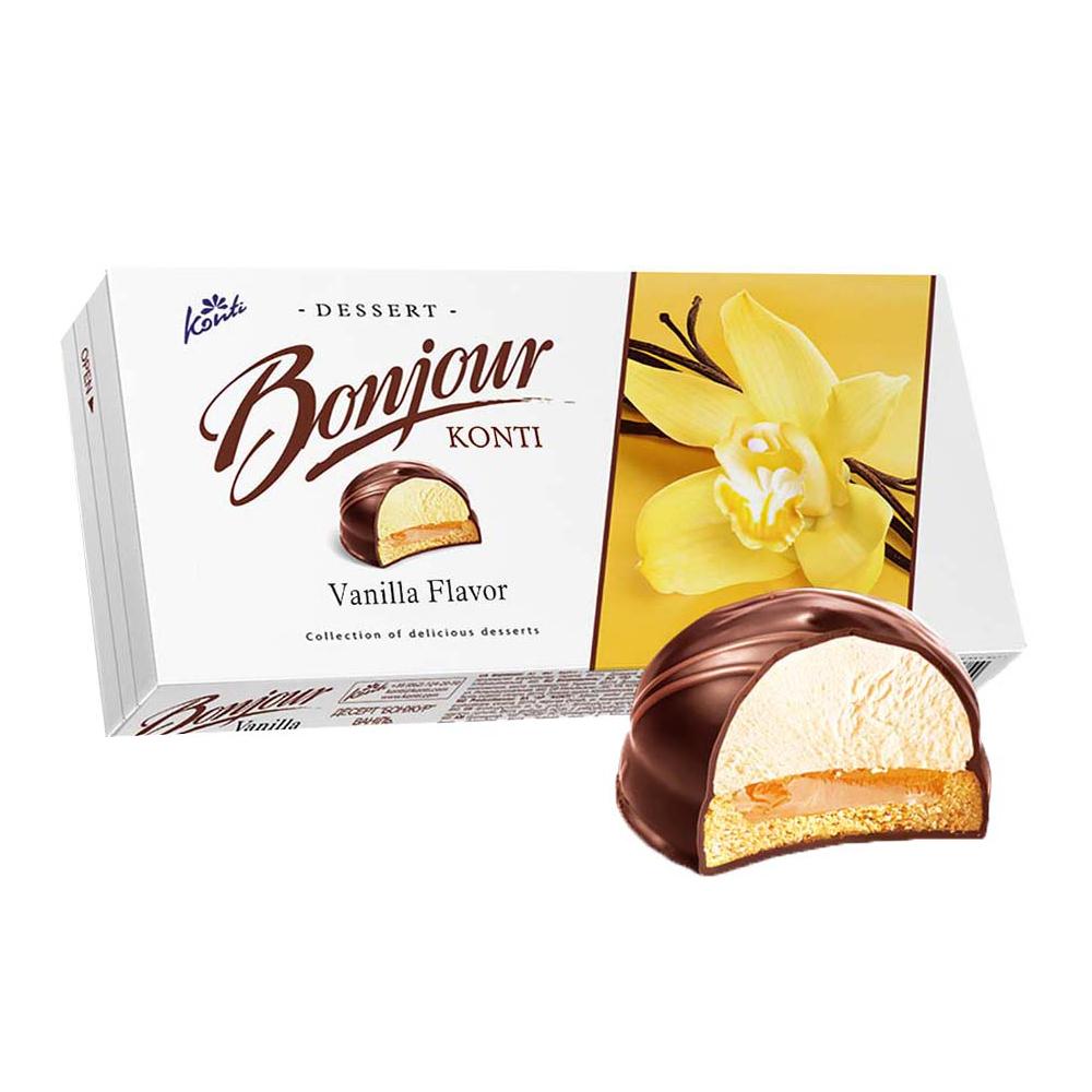 Chocolate Glazed Zefir Vanilla, Bonjour, 232 g