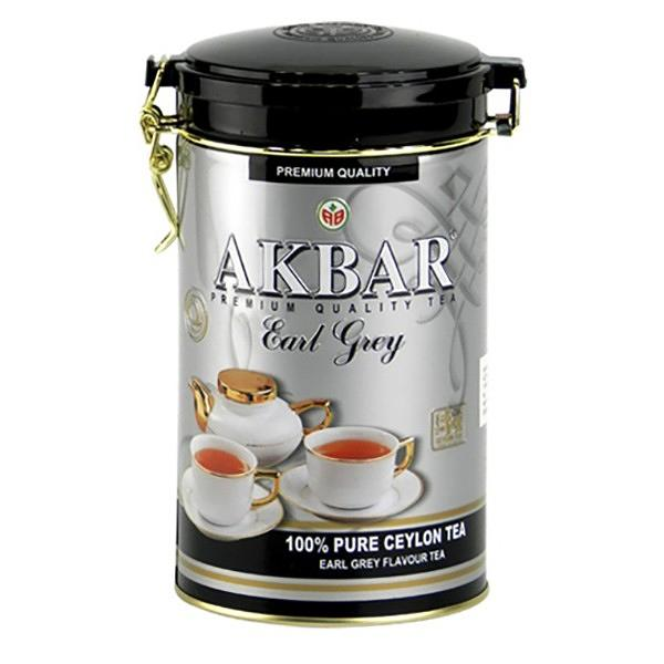 Akbar Tea Earl Grey in Tin Can, 15.87 oz / 450 g