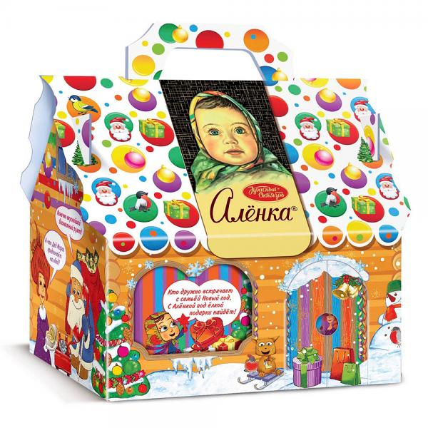 "Chocolate Candy Assortment Alenka Christmas & New Year Gourmet Gift ""Fun Vacation"", 24.69 oz / 700 g"