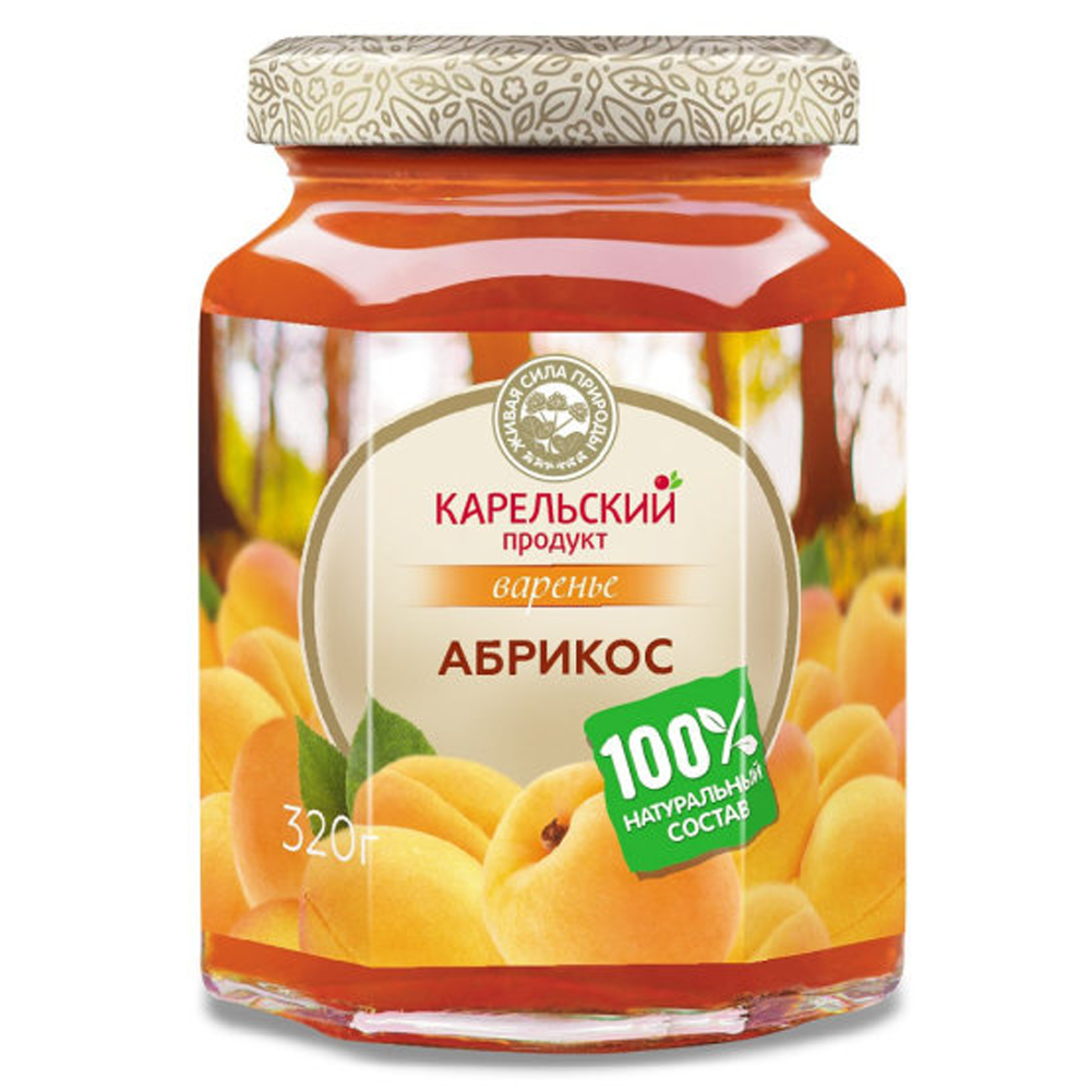 Apricot Preserve, Karelian Product, 320 g/ 0.71 lb