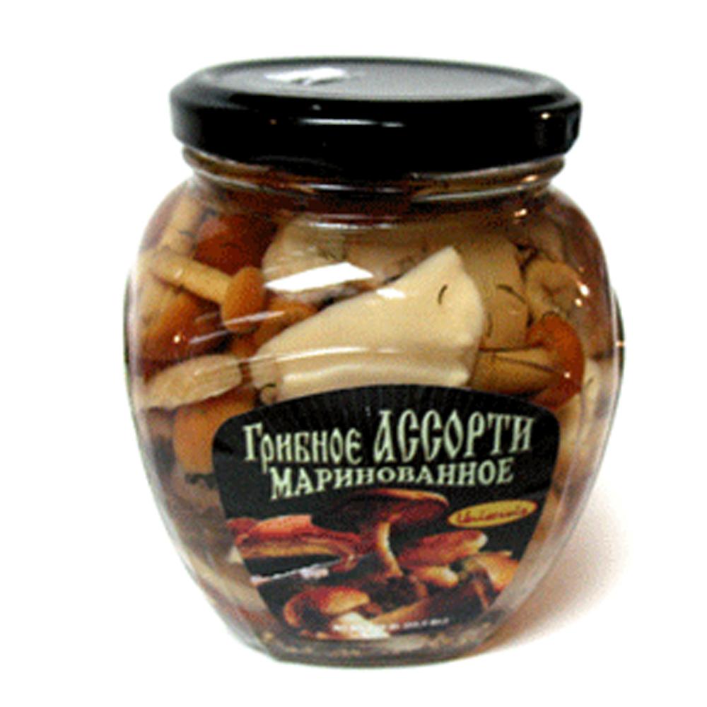 Marinated Mixed Mushrooms Uniservis, 15.52 oz/ 440 g