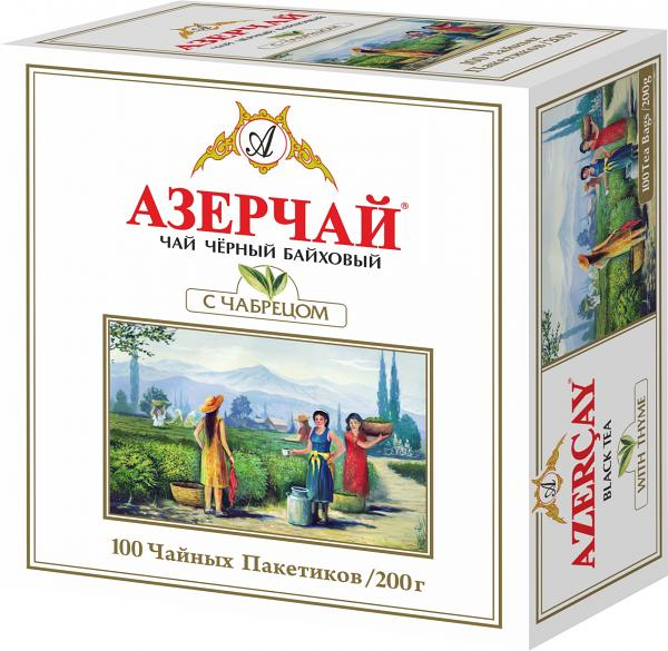 "Black tea with thyme by ""Azerchay"" 100pack /200g"