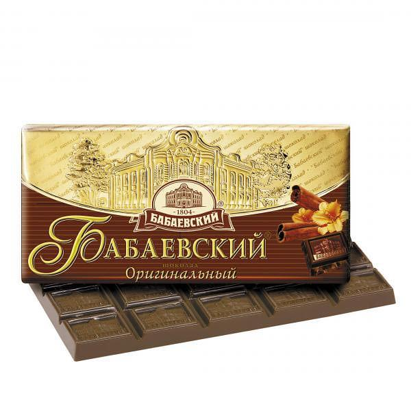 Babaevsky Original Chocolate Bar, 3.52 oz / 100 g