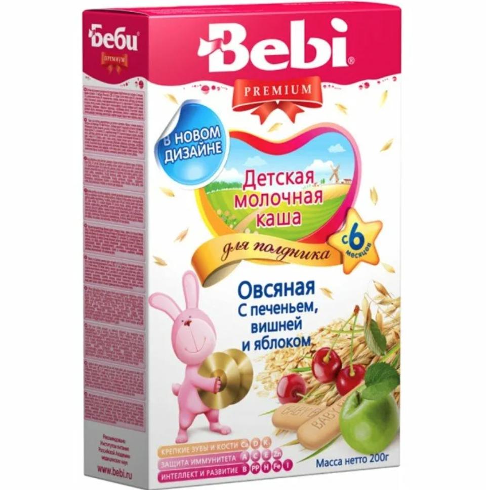Bebi Milk Oat Porridge w/ Cookies, Cherry and Apple, 7.05 oz / 200 g