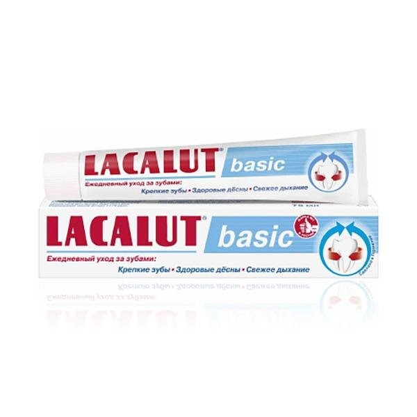 Lacalut Basic Daily Care Toothpaste, 2.54 oz / 75 ml