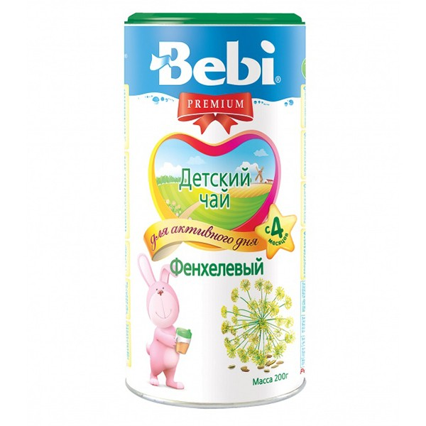 Instant Children's tea Bebi Premium fennel, 200 gr