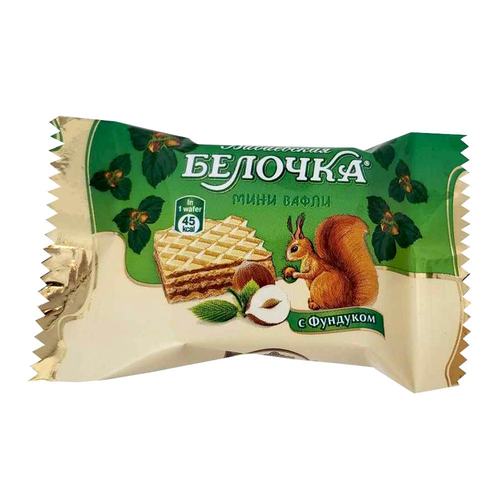 Unglazed Waffle Sweets w/ Nut-Chocolate Layers, Belochka, 226 g/ 0.5 lb