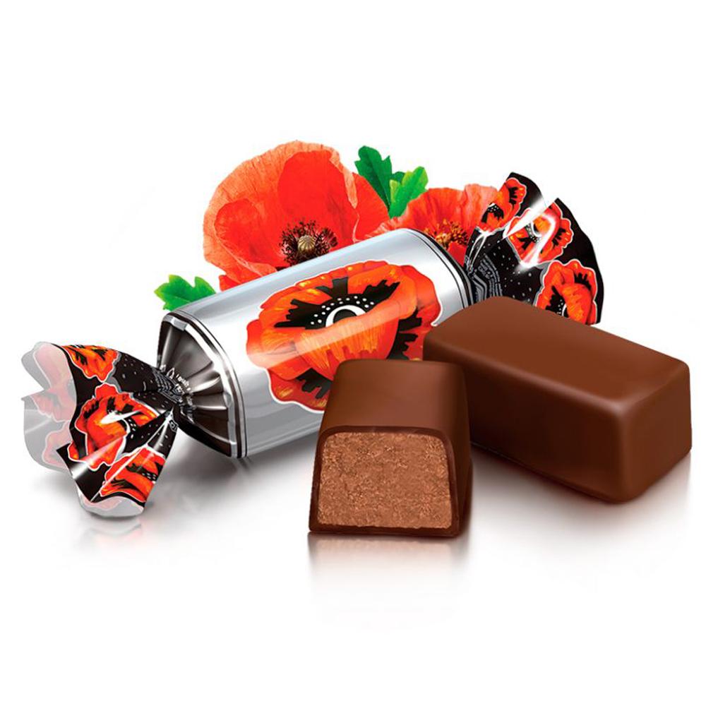 Chocolate Candy Red Poppy, Roshen, 0.5 lb / 0.22 kg