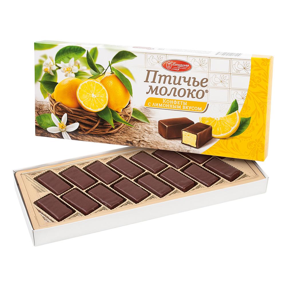 Bird's Milk Сhocolate Covered Souffle w/ Lemon Flavor, 0.44 lb/ 200g