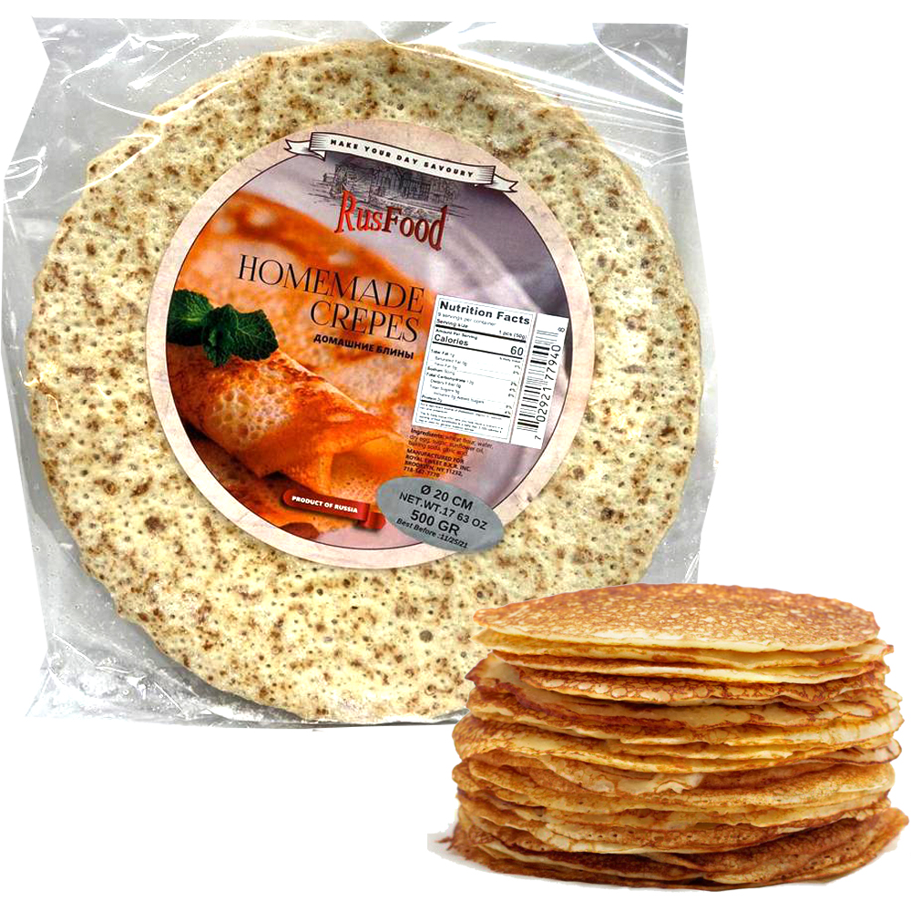 Blini Homemade (Ready-made), Rus Food, 500 g/ 1.1 lb