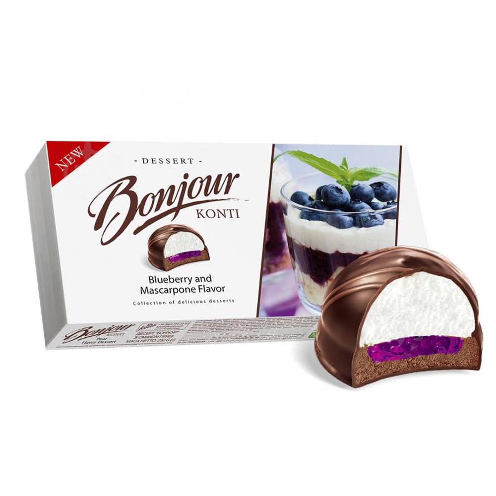 Blueberry and Mascarpone Flavor Dessert, Bonjour, 0.51 lbs/ 232 g