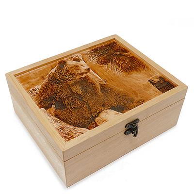 "Gift Box ""Siberian Treasures"" 3D engraving"