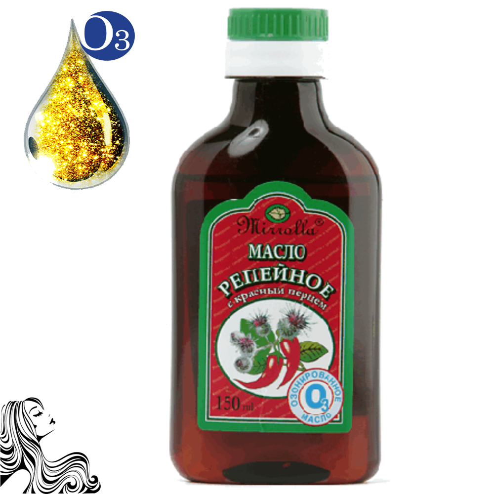 Ozonated Burdock Oil with Red Pepper, 5.07 / 150 ml