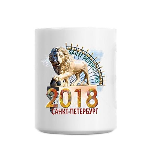 "Souvenir Mug 2018 FIFA in the Northern Capital, 3.75"""