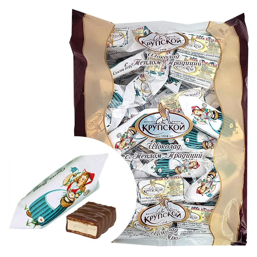 Chocolate Glazed Waffle Candies, Tales of Perrault, KF Krupskaya, 1 kg/ 2.2 lb