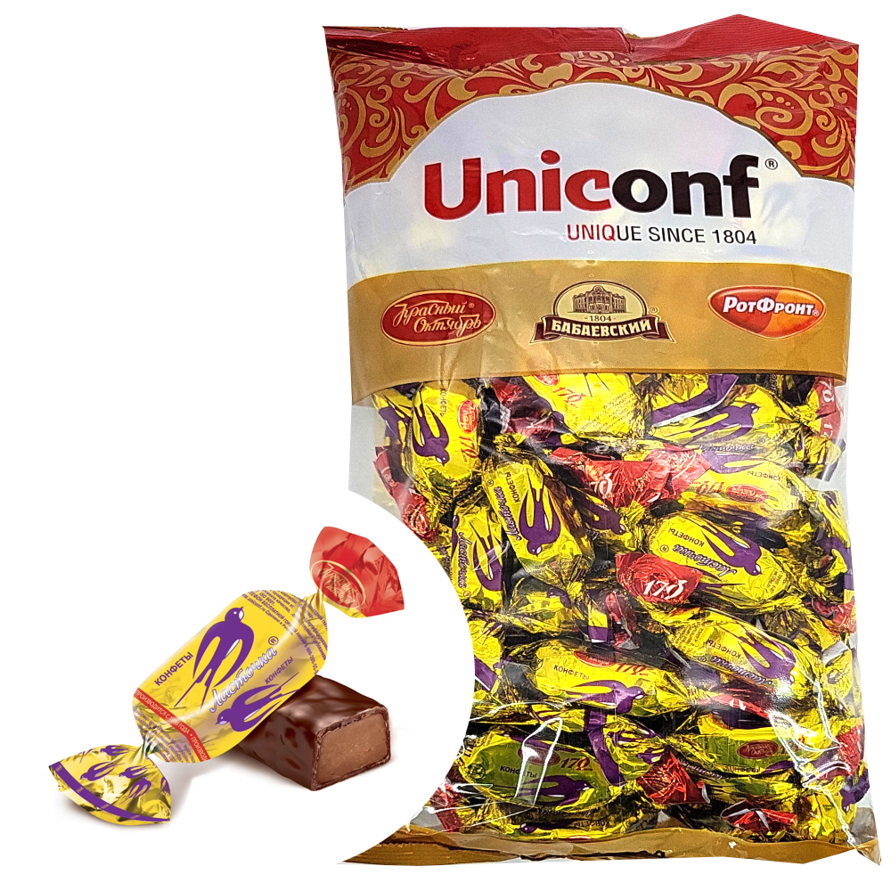 Chocolate Candy, Lastochka (Swallow), Red October, 1 kg/ 2.2 lb