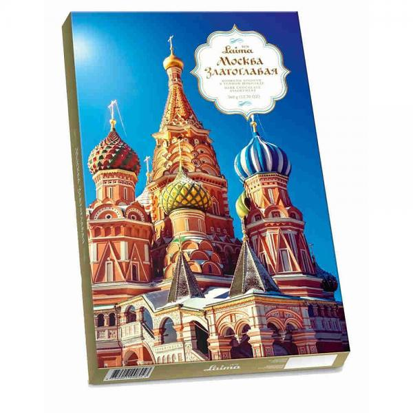 "Laima Chocolate Candy Box ""Gold Domed Moscow"", 12.7 oz / 360 g"