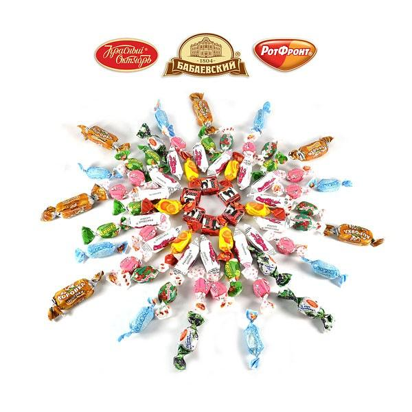 "Candy Set ""KARAMELKA"" Popular Russian-Ukrainian Caramel Candies, 3 lbs / 1.36 kg"