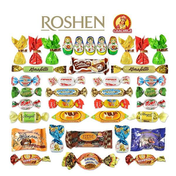 Candy Set from Slavyanka and Roshen Candy Factories, 3 lb / 1.36 kg