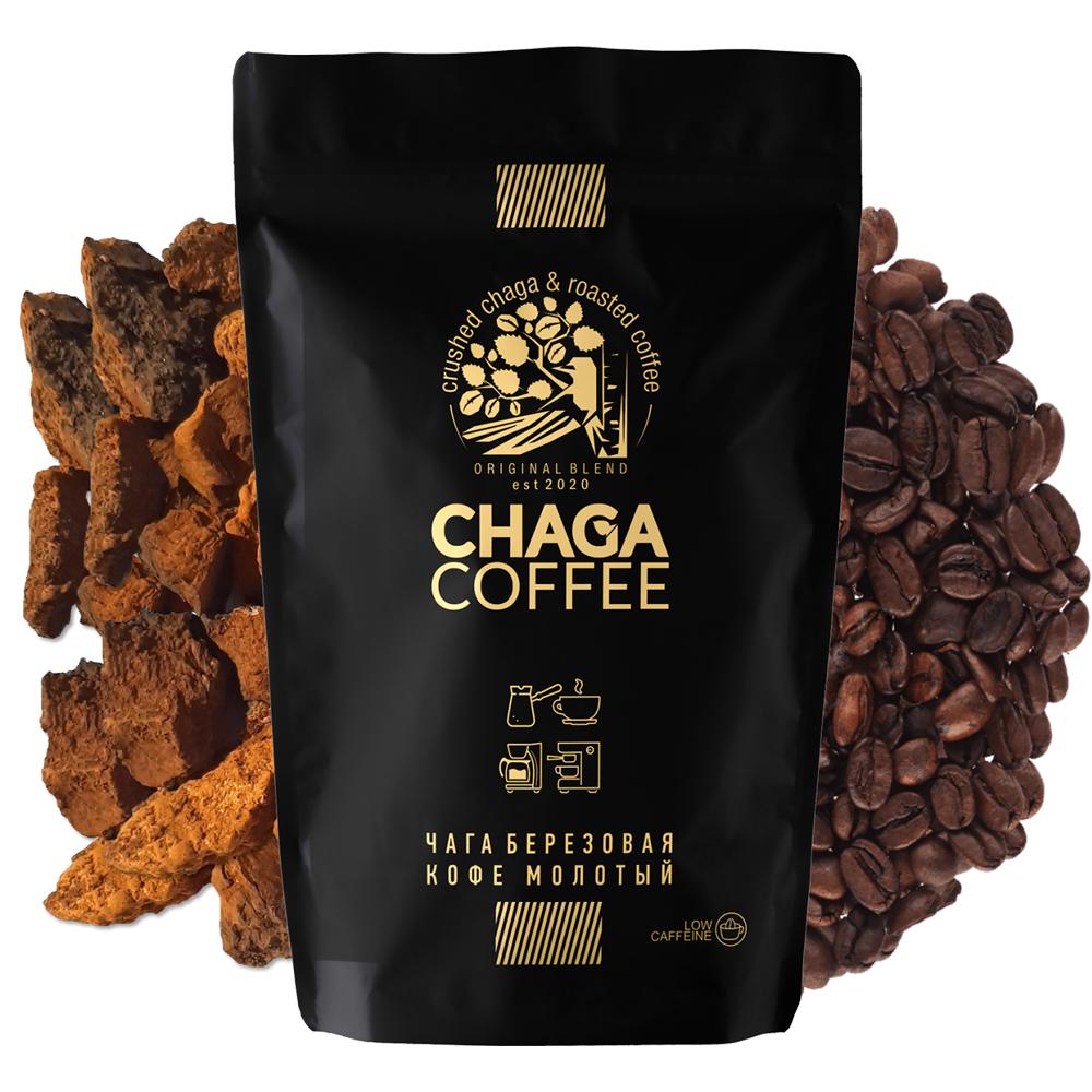 Ground Chaga and Coffee, ChagaCoffee, 75 g