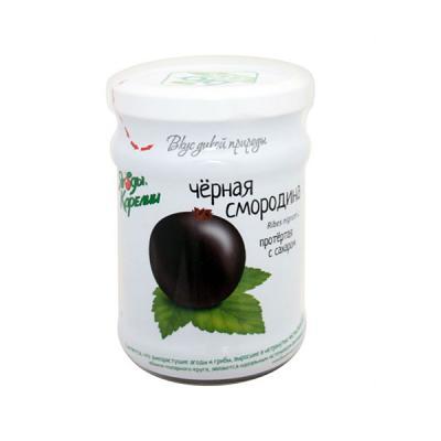 Black Currant Grated with Sugar, 9.87 oz / 280 g (100% BIO)