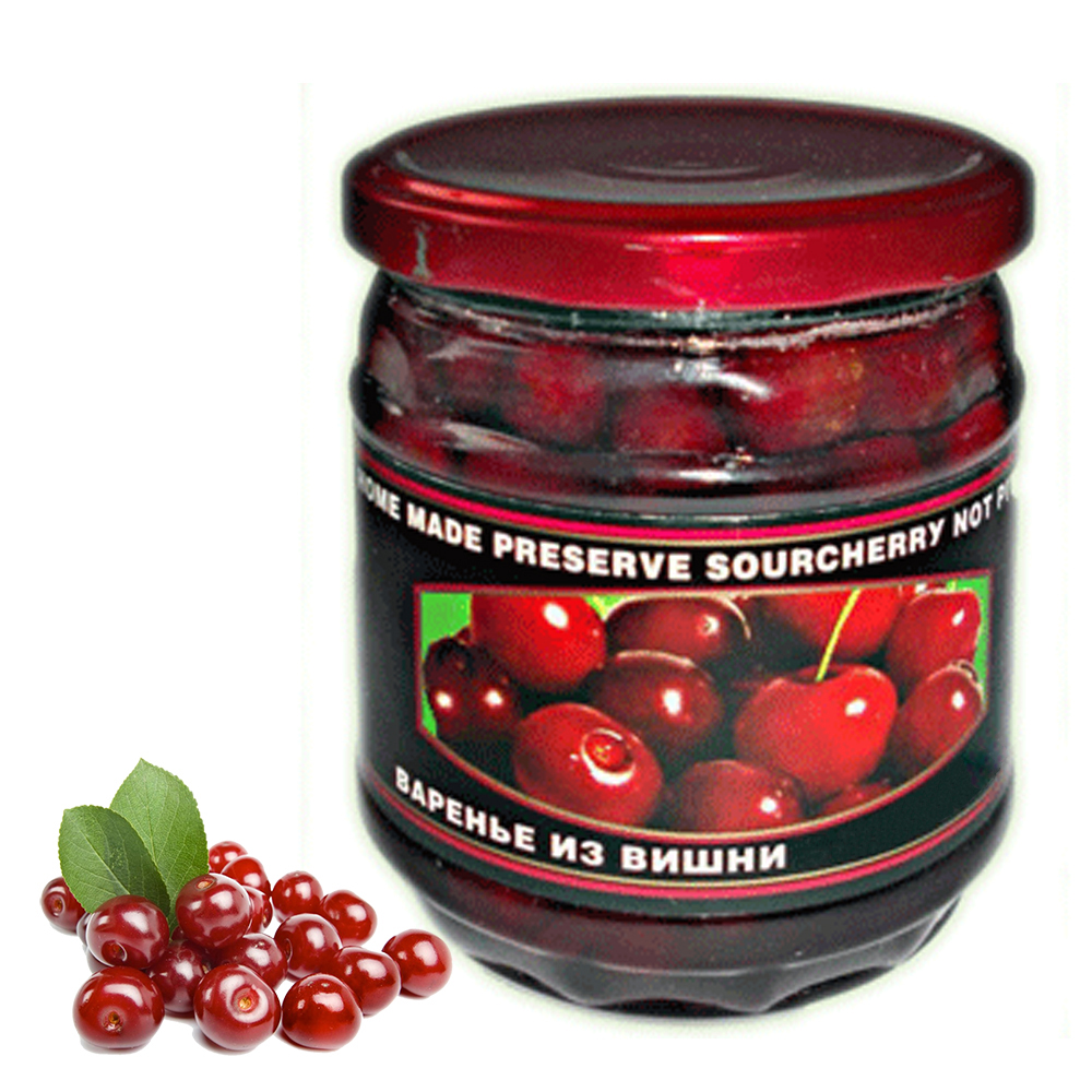 Homemade Preserve with Sour Cherry Pitted, 17.63 oz / 500 g