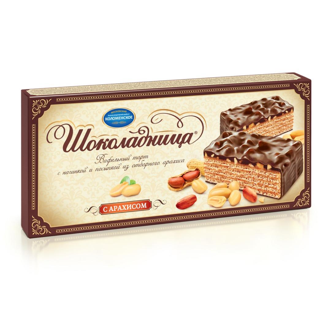 Chocolate Glazed Waffle Cake w/ Peanut, Shockoladnitsa, Kolomenskoye, 0.6 lb/ 270 g